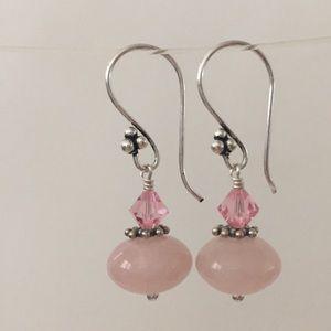 Jewelry - 3 for $25 Rose Quartz Earrings